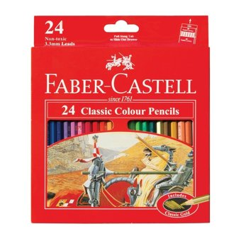 Harga Faber-Castell Pensil Warna Classic colour pencils Long 24 PCS