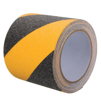 Floor Anti Slip Tape High Grip Adhesive Sticky Backed Non Slip Safety black and yellow - Intl ...
