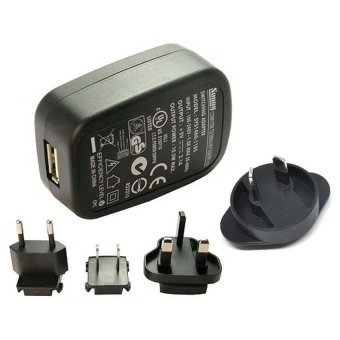 Harga Adaptor Charger Sunny 5V 2.1A Micro USB with EU UK US AU Plug - Black