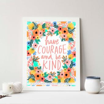Frame Motivasi Do All Things With Kindness (A-34) Putih