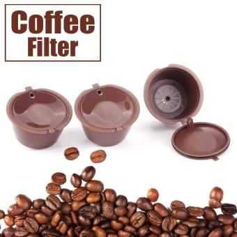Harga High Quality Store New 1/3/6pcs Reusable Coffee Capsules Cup Filter For Nescafe Refillable Brewers