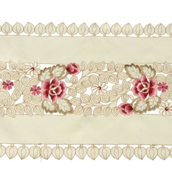 ... Rectangle Flower Table Runners Mat Tablecloth Tassel Wedding Birthday Party - intl - 4 ...