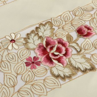 ... Rectangle Flower Table Runners Mat Tablecloth Tassel Wedding Birthday Party - intl - 5
