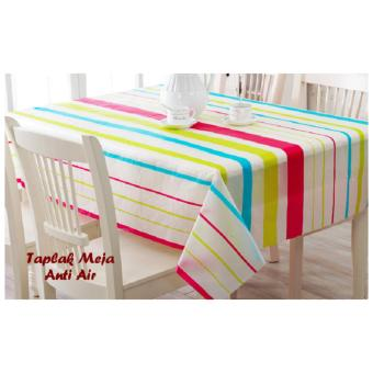 Harga Taplak Meja / Taplak Meja Anti Air / Taplak Meja Motif Anti Air - Garis Salur