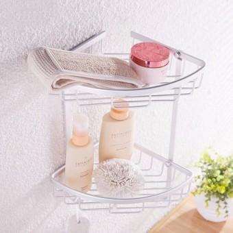 Galeri Gambar 3 Tier Shower Bathroom Shelf Corner Rack Organiser Lengkap