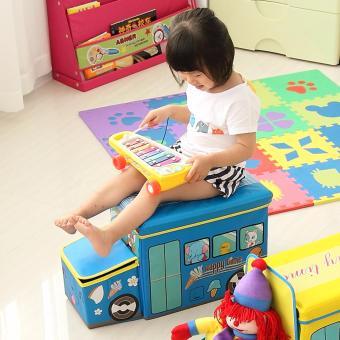 Harga Toy Box Storage Box Car Bus Cartoon Kotak Mainan Cloth Organizer Tempat Mainan Kotak Serbaguna
