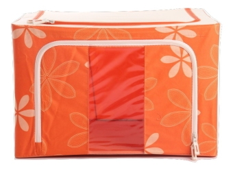 Oxford Box Steel Frame Oxford Fabrics Foldable Storage Box - 66L - Sun Flower Orange