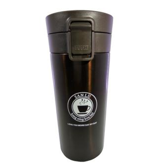Harga Cafe Style Vacuum Flask Coffee Cup / Termos Cangkir Stainless Steel 380 ML - Coklat