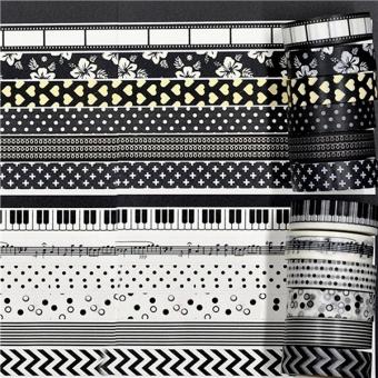 12 buah Washi Tape stiker dekoratif buku tempel kertas warna warna warni kertas .