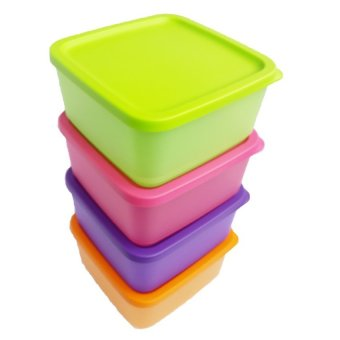 Harga Tupperware Small Summer Fresh 4 Buah - Multicolor