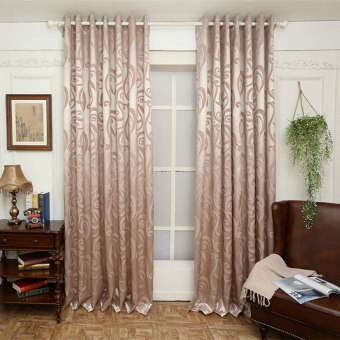 Semi-blackout blind jacquard modern design window treatments living room curtain window fabrics balcony white