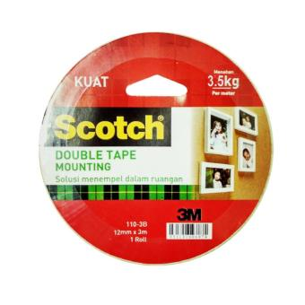 3M 110-3B Mounting Tape Scotch (Double Tape) 12mm x 3m - 1 Each