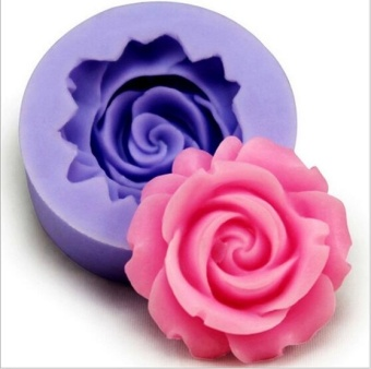 1 PC New 3D Rose Flower DIY Fondant Cake Chocolate Sugarcraft Mold Cutter Silicone Tools Dreamever