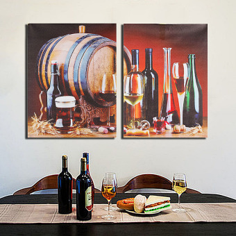 Modern Unframed Wine Barrel Wall Painting Art Canvas Print Picture Home Decor - intl