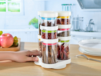Harga EZY Rotating Spice Storage Rack - 8 Pcs