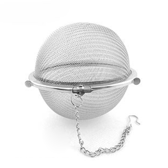 Stainless Steel Tea Ball Strainer Mesh Infuser Filter Sphere Locking Accessory Tool Kitchen 4.5Cm