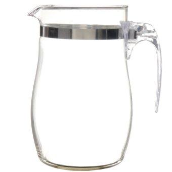 Freebang 750mL Heat-resisting Clear Glass Teapot Stainless Steel Infuser Flower Tea Pot - Intl ...