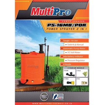 Harga Multipro Electric Power Sprayer 2 in 1 / Mesin Semprot Hama Baterai 16liter PS-16MB/PDR