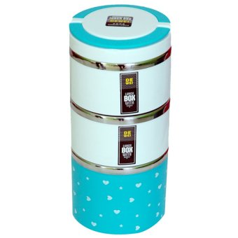 Harga Golden Lunch Box Susun 3 - Biru