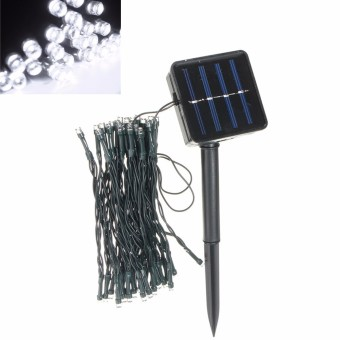 Cool White Outdoor Solar Powered 50 LED Fairy String Light Yard Garden Path Chirstmas Lamp - intl ...