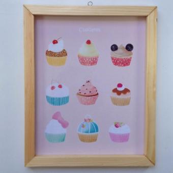 Wall decor / Printed poster / Hiasan dinding - CUP CAKES