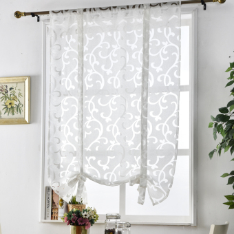 Treatments kitchen roman blinds luxury short curtain window European style decorative curtains curtains Kitchen jacquard curtain - 4