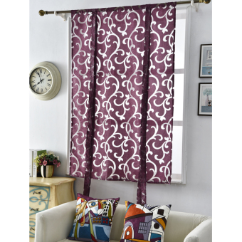 Treatments kitchen roman blinds luxury short curtain window European style decorative curtains curtains Kitchen jacquard curtain - 2