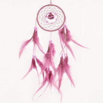 leegoal Dream Catcher Dreamcatcher Feathers With A Small Bell Wall Hanging Decor,Pink - intl