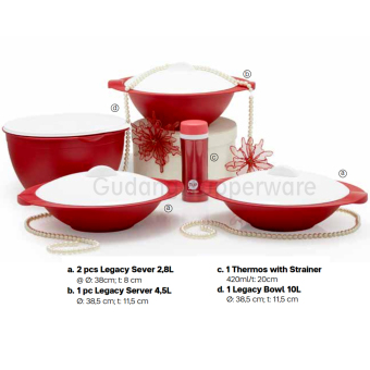 Harga Tupperware Legacy Server and Thermos