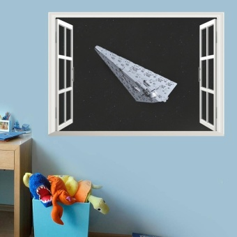 2016 NEW Star War Sith Infiltrator 3d Windows Wall Stickers Kids Room Decor 1477. Diy Home Decals Movie Mural Art Poster 4.5