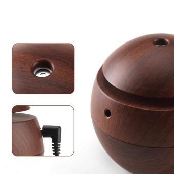 Gogerstar 130ml Humidifier Ultrasonic Aroma Aromatherapy Essential Oil Diffuser, Wood Grain USB .