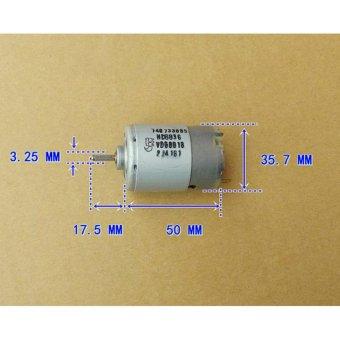 JOHNSON 545 DC motor 6V-12V axis front ball bearing motor 12V 5A49000RPM high speed good for DIY Electric tool(6.8) - intl - 5