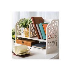 Jual Rak Buku Kayu di Meja A335 Obral Hemat