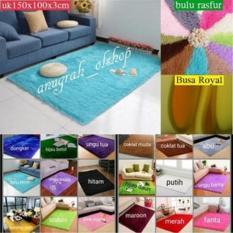 karpet bulu rasfur lembut dan empuk uk 150x100x3cm murah