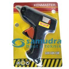 Kenmaster Glue Gun 15 Watt Bonus 2 Potong Refill Lem Tembak