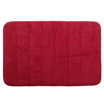 ... Keset kamar mandi busa penyerap air warna merah anggur - 3 ...