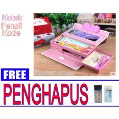 Kotak pensil kode ( Gambar Random ) + FREE  2 penghapus