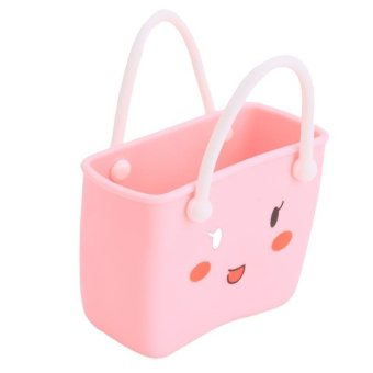 ... LALANG Kitchen Sink Bathroom PVC Hanging Basket Strainer StorageBag ( Pink) - 4 ...