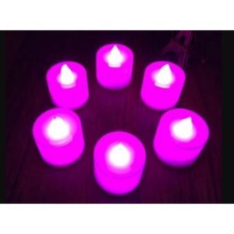 Lampu Lilin elektrik LED tanpa api mini menyala warna natal - 2