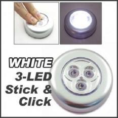 Rp 17.000. Laris 102 - Stick Touch Lamp 3 LED Lampu Darurat Sederhana Tempel dan Tekan - SilverIDR17000