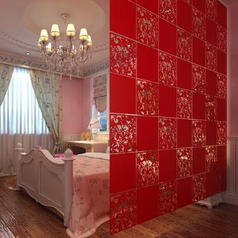 ... Layar Plastik Tergantung Partisi Ruangan Pembatas Dinding StikerSeni Dekorasi Rumah (Hitam) - 5