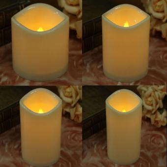 LED Flameless Wax Mood Candles Lights For Home Wedding Partysize:15 cm .