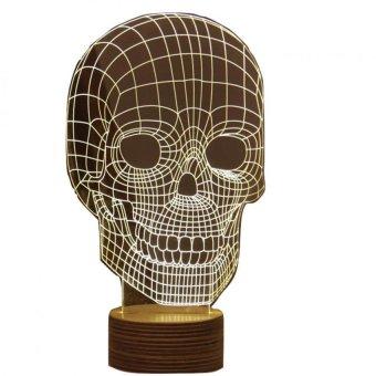 ... LED Lampu 3D LED Transparan Design Tengkorak White