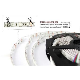 ... Led Strip Flexible Light Waterproof 5050 RGB 5M with 44 Key Remote Control - White ...