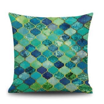 Jual Leisure Colorful Cotton Linen Cushion Cover Throw Pillow Case SofaHome Decor F - intl di ...