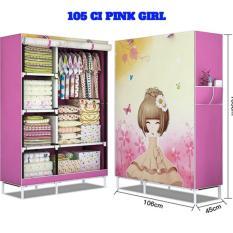 Lemari kain oxford motif pink tua polkadot 105-NT1 | Shopee Indonesia -. Source · Lemari pakaian portable L 105CM 3kg 105 CI PINK GIRL .