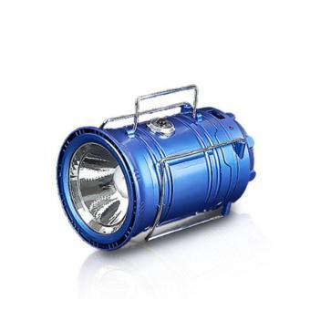 Lentera Tarik Mini JY-5700T + Senter Solar + Powerbank - Camping Lantern - Biru