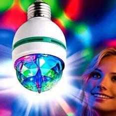 Lucky - Lampu Led Disco Rotating (Full Colour) Rotating Lamp - Led 3 Watt - 1 Pcs