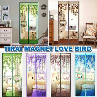 thumbs Magic Mesh Tirai Magnet Anti Nyamuk Motif Love Bird - Tirai Pintu .