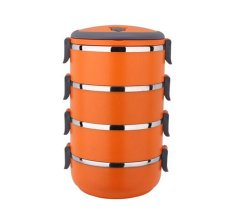 Retail Station - Eco Lunch Box Stainless Steel Rantang 4 Susun - OrangeIDR60000. Rp 65.000